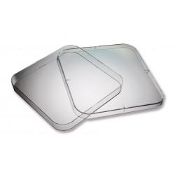 Placas Petri de plástico cuadradas